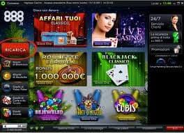 lobby casino 888