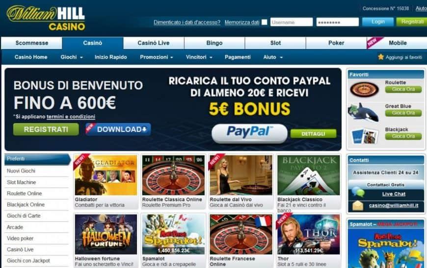 Giochi di Casinò online | 500€ Bonus Benvenuto | Con Licenza AAMS