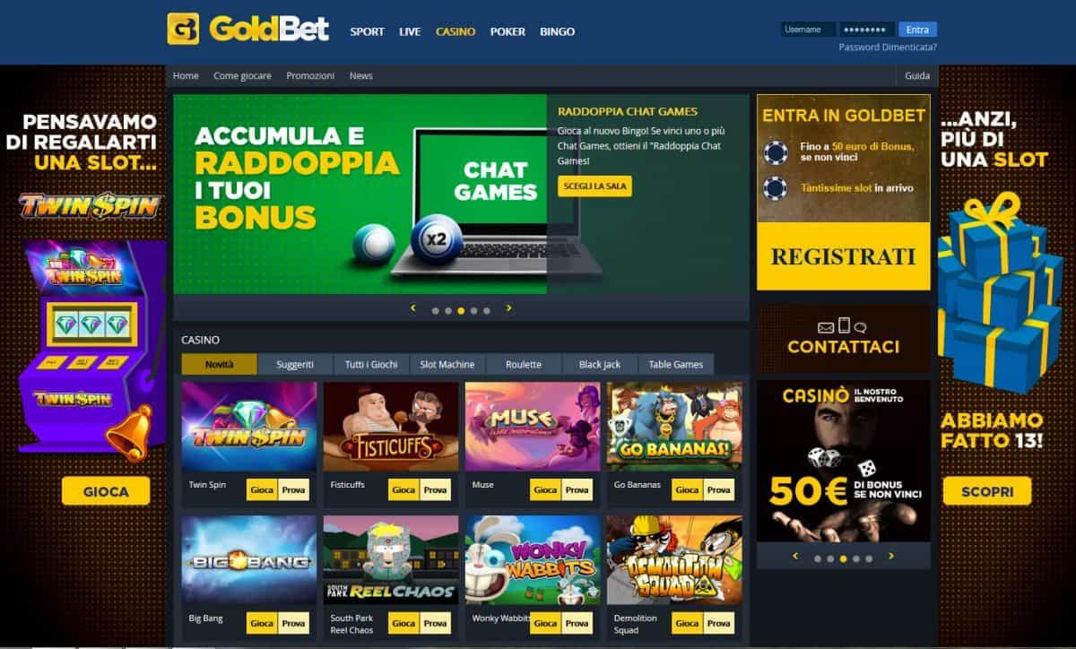 recensione e bonus goldbet casino