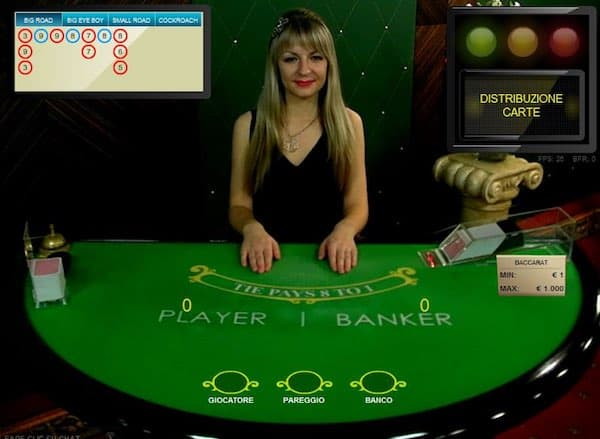 giocare baccarat online