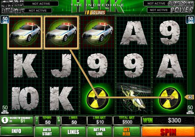 schermata slot machine incredibile hulk
