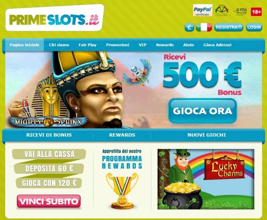Slot machine con bonus di benvenuto