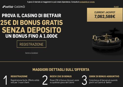 recensione bonus betfair casino