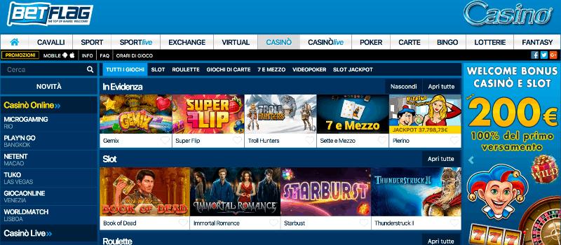 Giochi casino online senza deposito