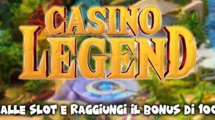 Casino Legend Eurobet : 5€ subito e Montepremi fino a 100.000€ !!!