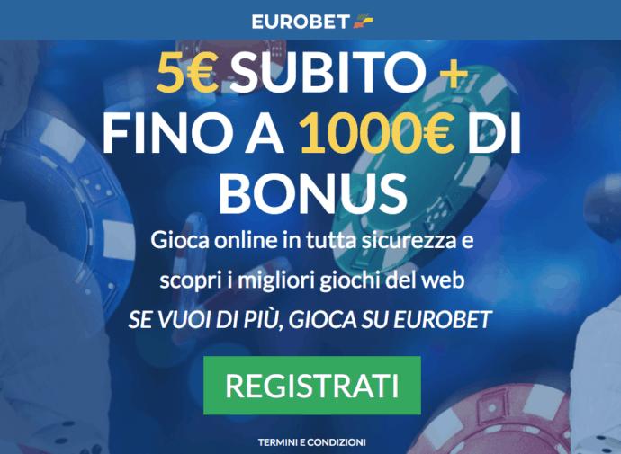 Eurobet consente di giocare in assoluta sicurezza