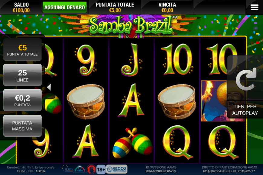 Hot roll slot machine