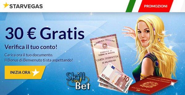 Anche StarVegas offre bonus senza deposito