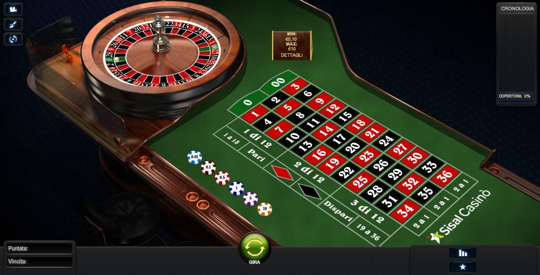 Roulette Americana Casino Online di Sisal