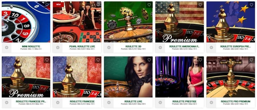 Roulette Casino Online di Sisal