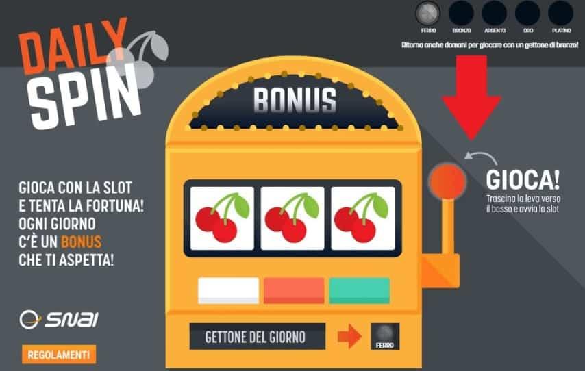 Daily Spin Snai - La Slot gratuita che ti fa vincere !