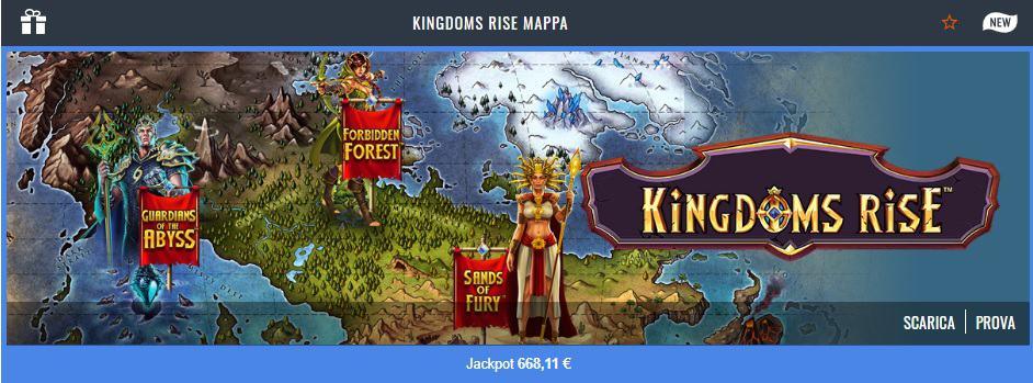Kingdom Rise Gratis su Snai Casino