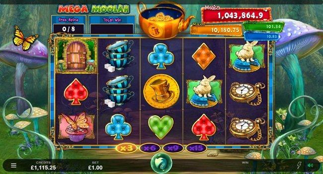 Microgaming Mega Moolah Absolutely Mad Slot gratis