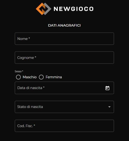 Come Aprire un conto Newgioco