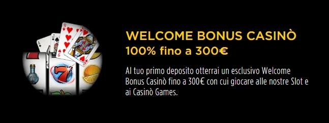 Bonus Benvenuto Goldbet 100% fino a 300€