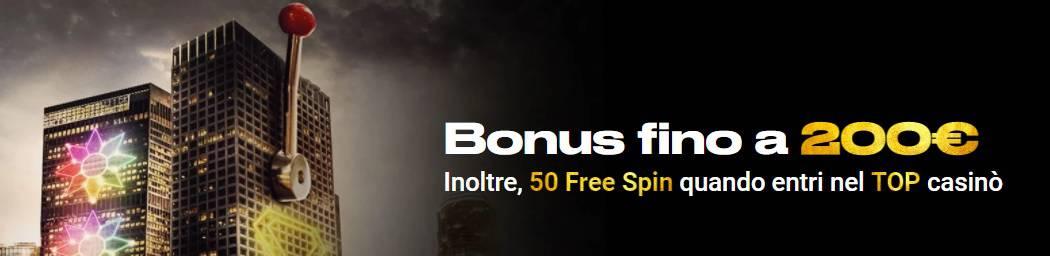 Bwin bonus di benvenuto 200€ + 50 giri gratis