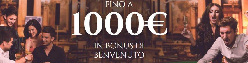 Bonus Voglia di Vincere Casino 1000€ sui primi 3 depositi