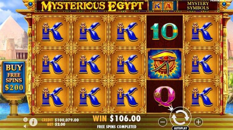 mysterious egypt slot gratis