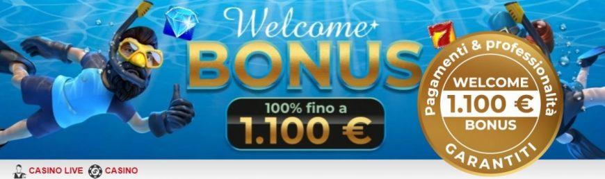 Bonus Benvenuto Hitstars Casino 1100€