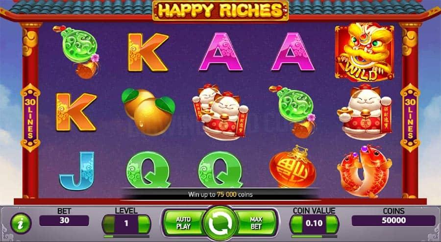 Happy Riches Slot Netent Gratis