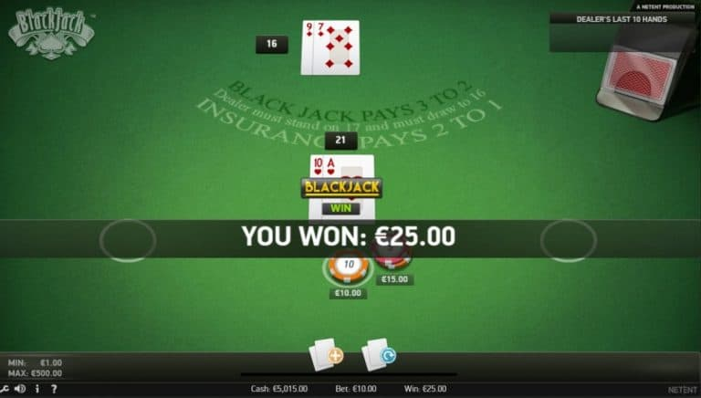 Blackjack Netent Gratis